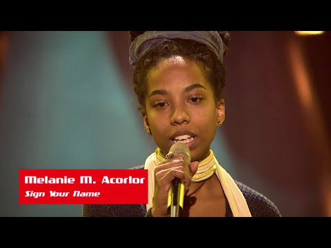 "Melanie M. Acorlor: ""Sign Your Name"" - The Voice of Croatia - Season1 - Blind Auditions5"