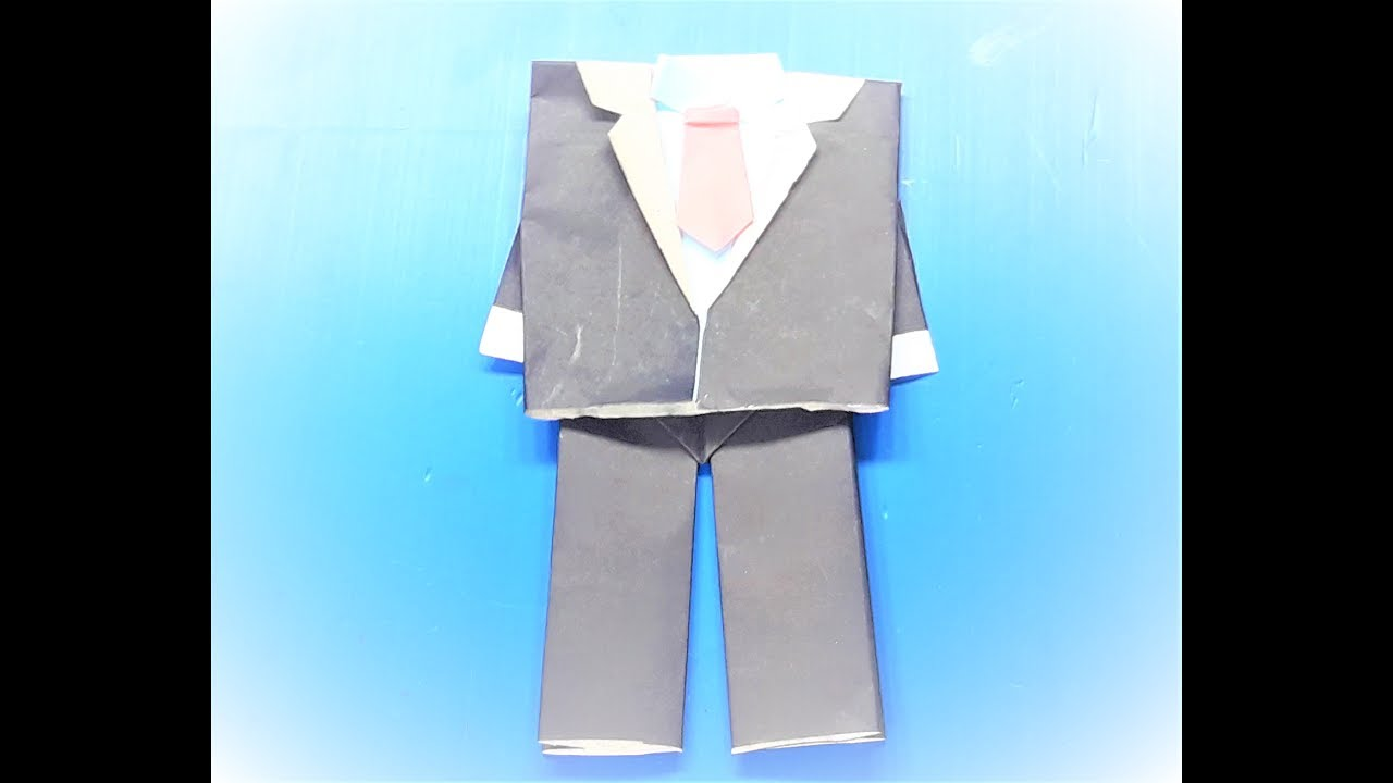 Money Origami Shirt and Tie Folding Instructions   720x1280