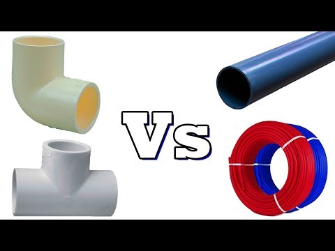 Difference between PVC cPVC uPVC and PEX