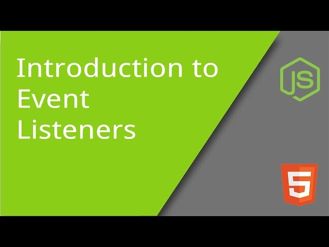 Introduction to JavaScript Event Listeners