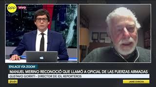 """Gorriti sobre audios de Vizcarra: """"Todo estaba organizado con el fin de producir la vacancia"""""""