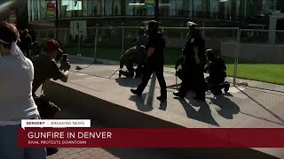 Person shot, killed during dual protests in Denver; 2 suspects in custody