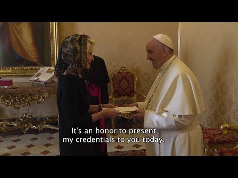 New U.S. Ambassador presents her credentials to the pope