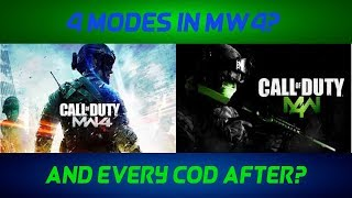 Modern Warfare 4 To Have 4 Game Modes? (BLACK OPS 4)