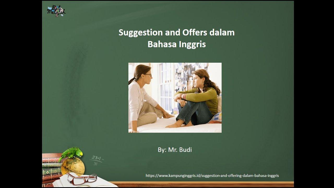 Sma Bahasa Inggris Suggestion And Offer Saran Dan Tawaran Youtube