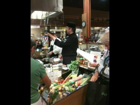 Chef David Wolfman doing a cooking demo at Wegmans...
