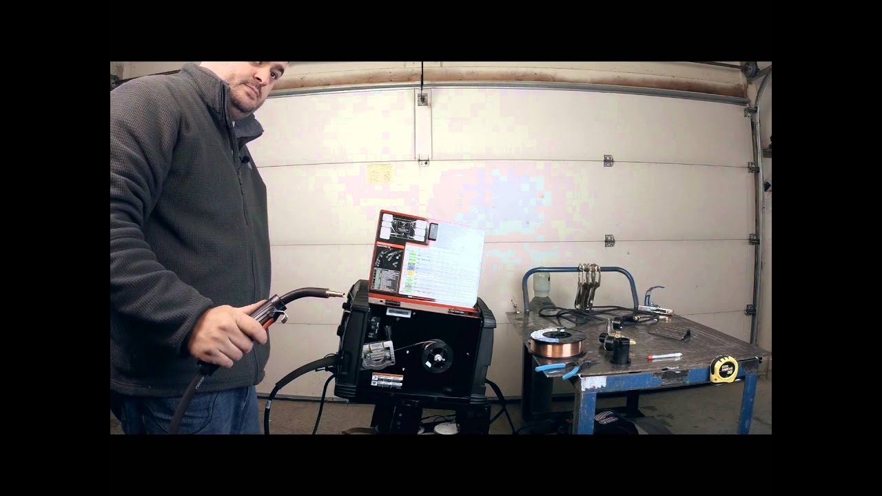 Lincoln Electric Mig Welder >> Lincoln Power Mig 210 MP Setup - YouTube