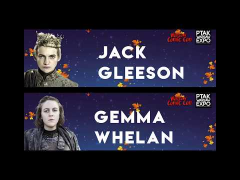 Warsaw Comic Con: panel Q&A z Gemma Whelan i Jack Gleeson  Game of Thrones 26.11.2017