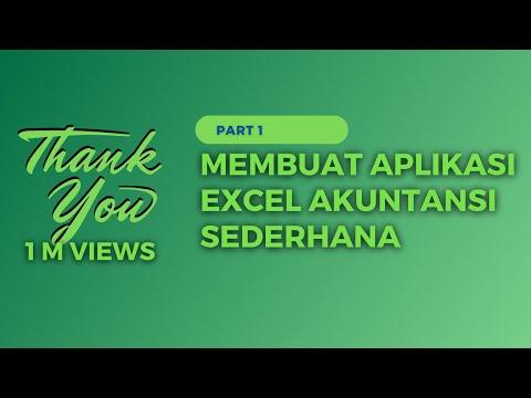 Membuat Aplikasi Excel Akuntansi Terbaru 2019 - Part 1 (Akun, Jurnal, Dan Buku Besar)