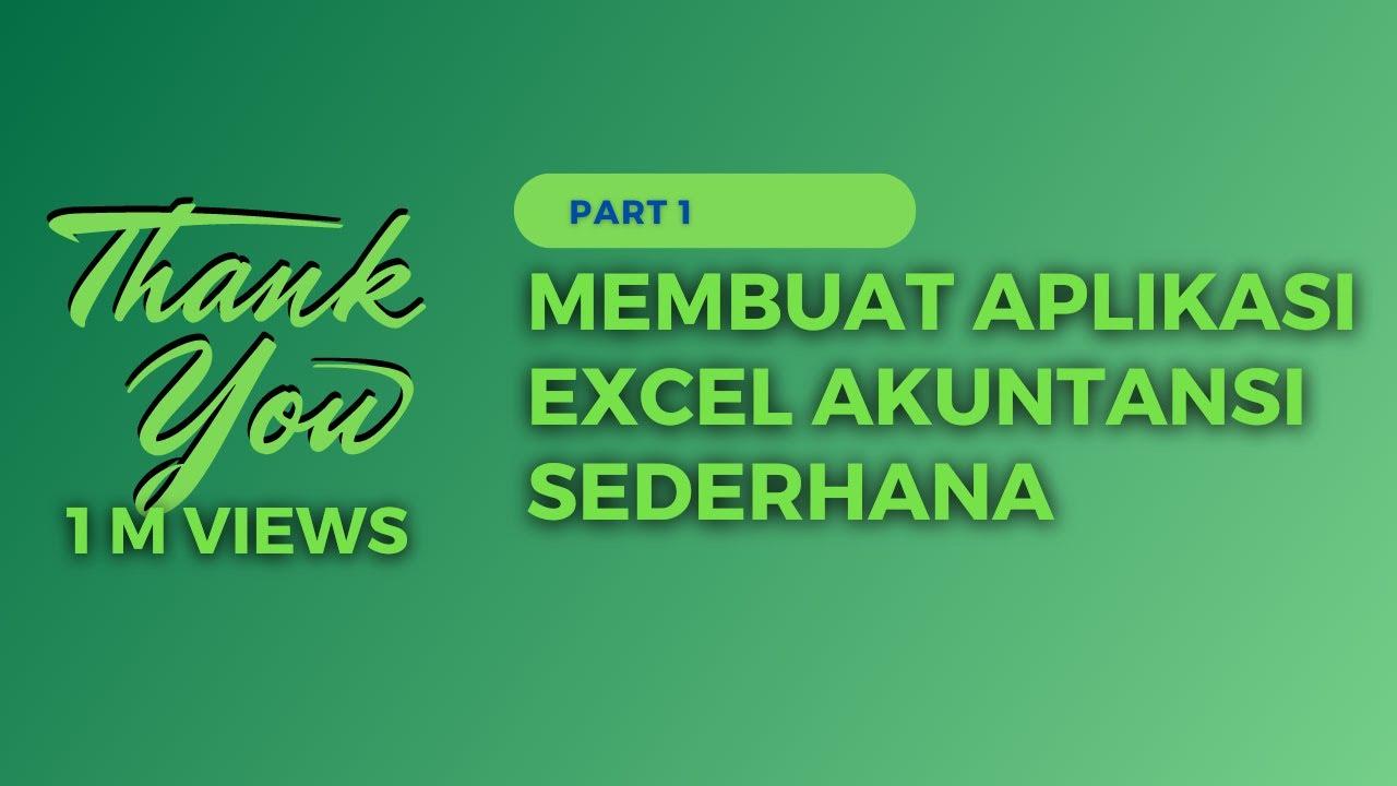 Cara Mudah Menyusun Laporan Arus Kas Dengan Excel Terbaru 2019 Youtube