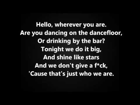Crazy Kids - Ke$ha Feat. Will.I.Am (with Lyrics On Screen) HQ