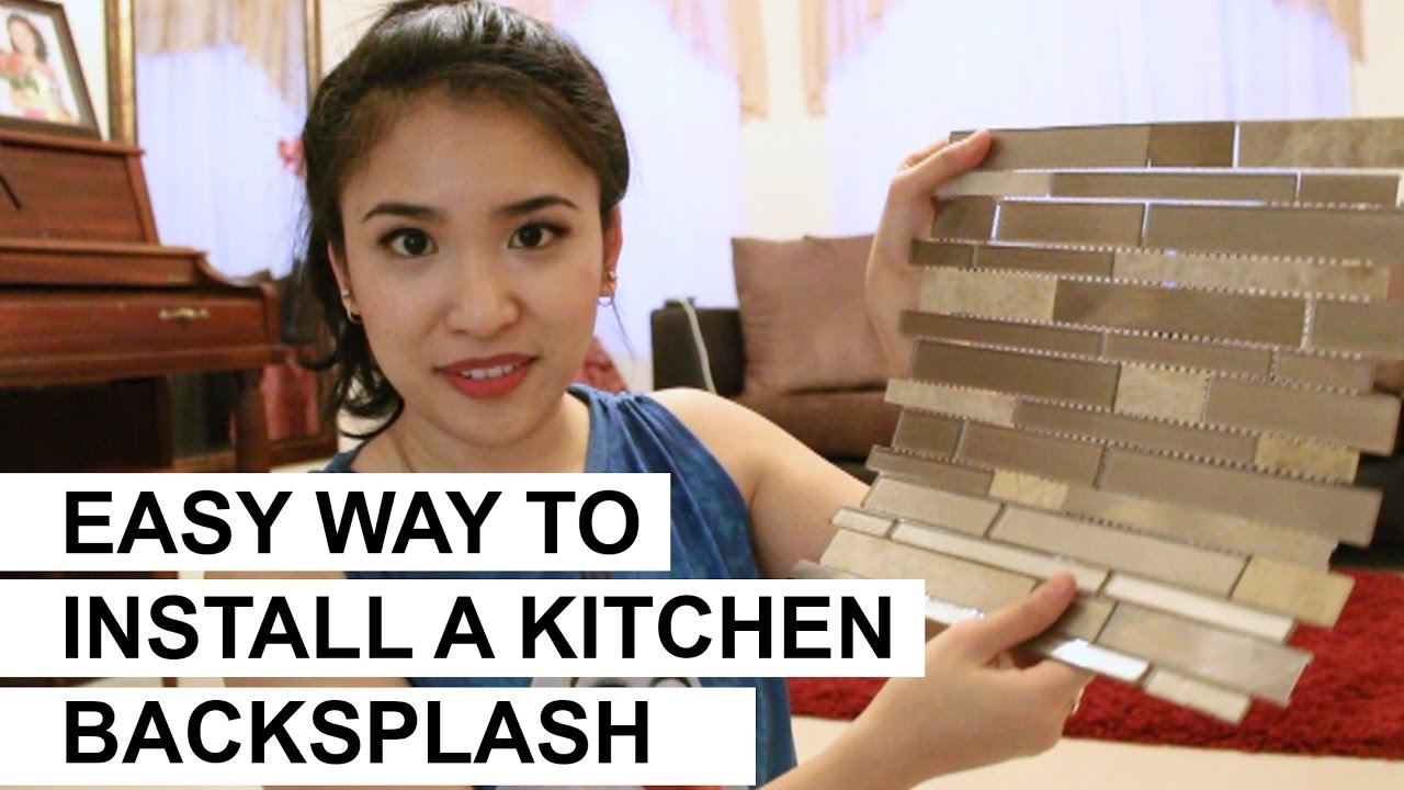 - Easy Way To Install A Kitchen Backsplash DIY - YouTube