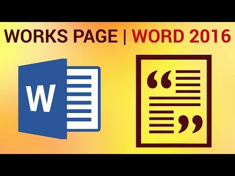 How To Create A Bibliography In Word 2016