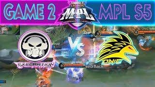 EXECRATION vs ONIC - GAME 2 | MPL PH Season 5