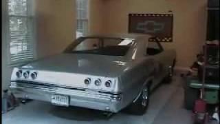 65 Chevy Impala SS open headers irritates my neighbor