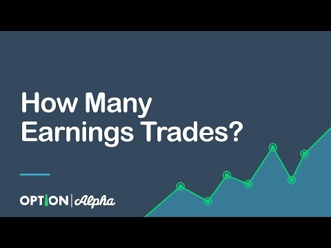 Options trades for earnings