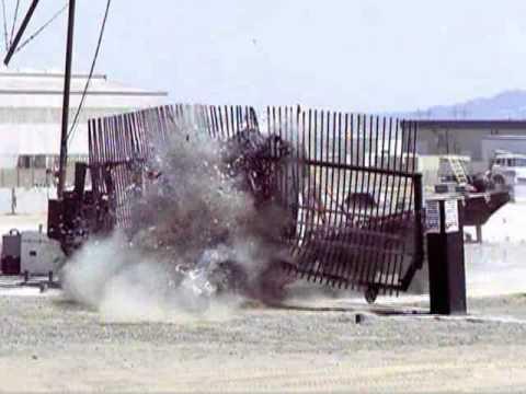 K-12 Crash Barrier Fence System Testing