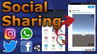 Share Screenshoots in All Social Media - Unity 3D [Tutorial] 2018