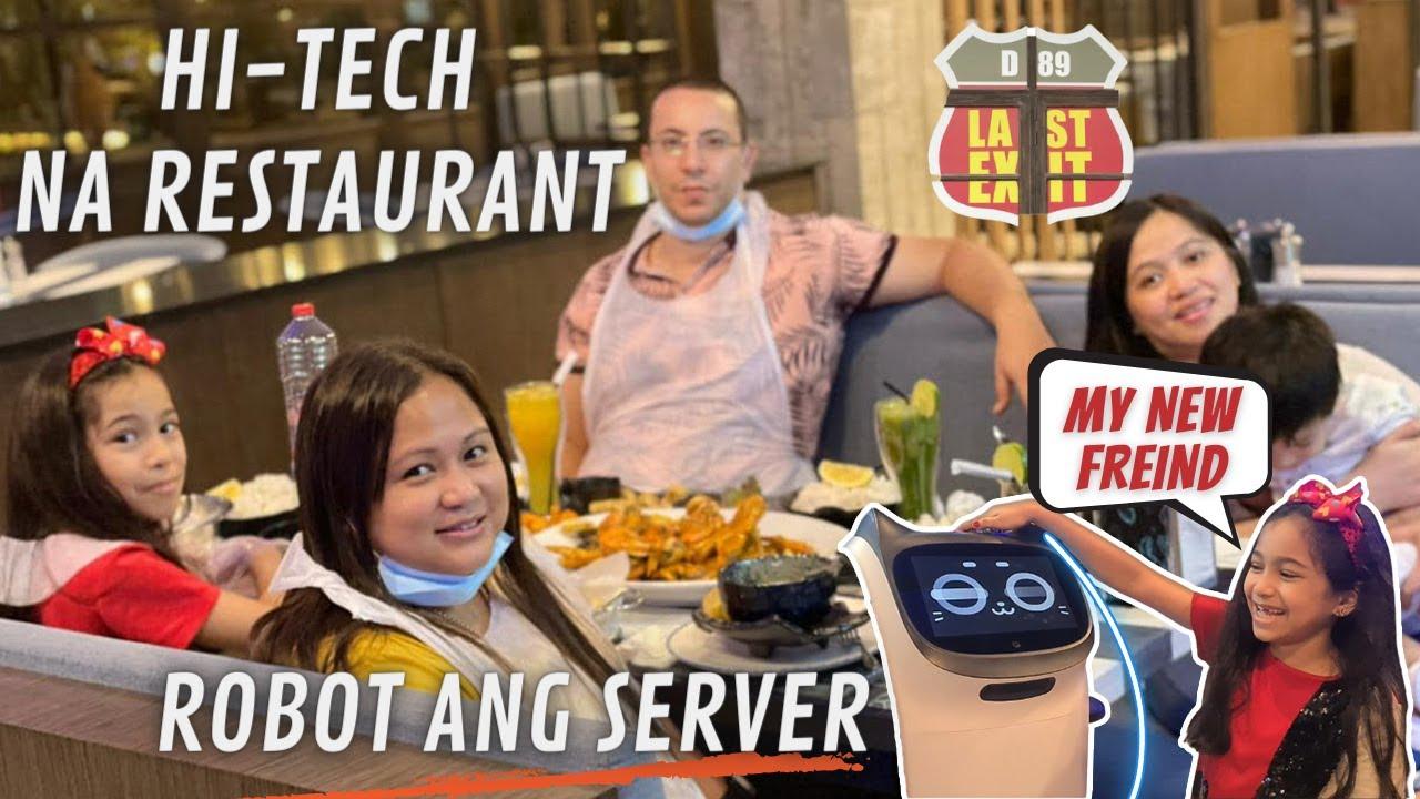 ROBOT SERVE OUR FOOD !!! 😱🤖 (Eid Celebration :Last Exit)   lebibfamily