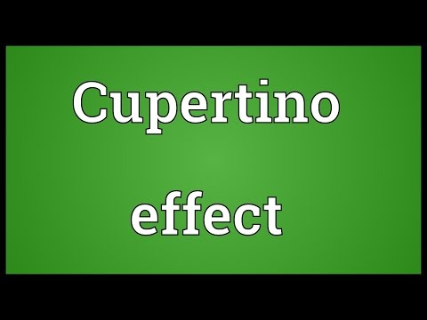 Cupertino effect Meaning