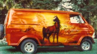 CUSTOM VANS,,,,,, 70s STYLE ,,, MY MUSIC VIDEO ART ,,,,