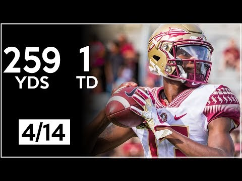 James Blackman Florida State Spring Game Highlights | 259 Yards, 1 TD | 4.14.18