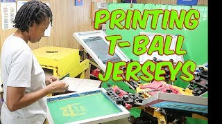 Screen Printing And HTV On T-Ball Jerseys