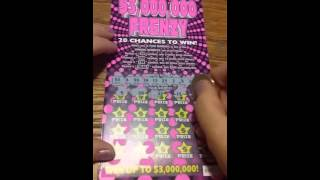 $3,000,000 FRENZY NY lottery ticket #2