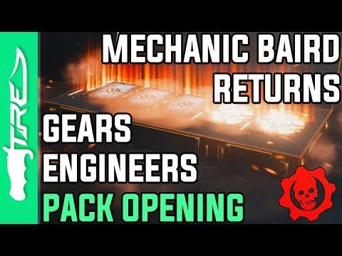 MECHANIC BAIRD HAS FINALLY RETURNED! - Gears of War 4 Gear Packs Opening - 22 GEARS ENGINEERS PACKS!
