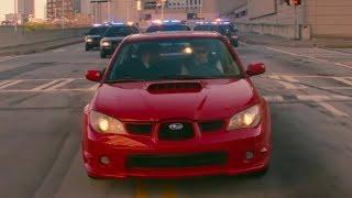 Малыш уходит от погони на Subaru Impreza WRX \ Малыш на драйве ( Baby Driver )