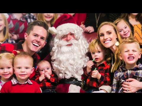 SANTA SURPRISE PARTY! - Ellie and Jared Christmas Special 2015