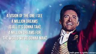 A Million Dreams (Original voice with lyrics) by  Ziv Zaifman Soundtrack The Greatest Showman