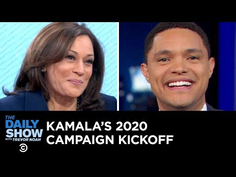 Trump's Border Wall Demands, Fox News's Gaffe & Kamala Harris's Big Announcement | The Daily Show