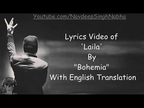 "BOHEMIA - Full HD PUNJABI/ENGLISH Lyrics of 'Lela' By ""Bohemia"""
