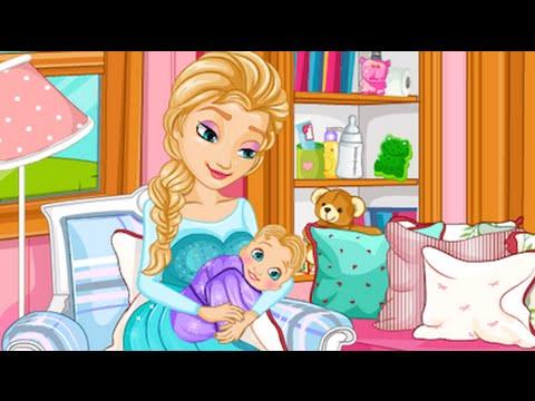 Juegos De Elsa Frozen Elsa Gives Birth Youtube