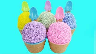 Surprise Toys Foam Clay Ice Cream Waffle Paw Patrol Disney Mickey Mouse LEARN COLORS Kids Video