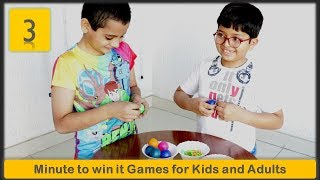 3 One minute Games   Minute to win it games for kids and adults   Part 2 (2019)