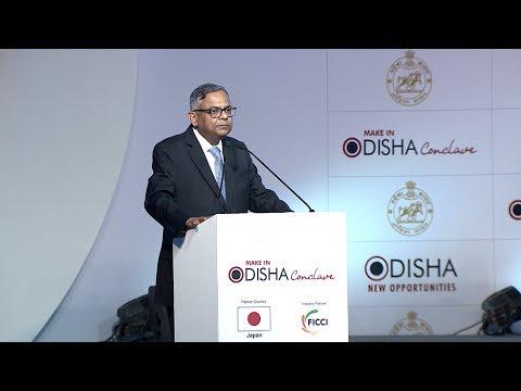 Natarajan Chandrasekaran, Chairman, Tata Sons @ Make in Odisha Conclave 2018 - Speech