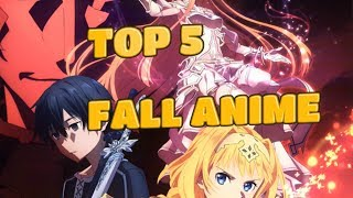 TOP 5 MOST ANTICIPATED FALL ANIME'S IN JAPAN?!