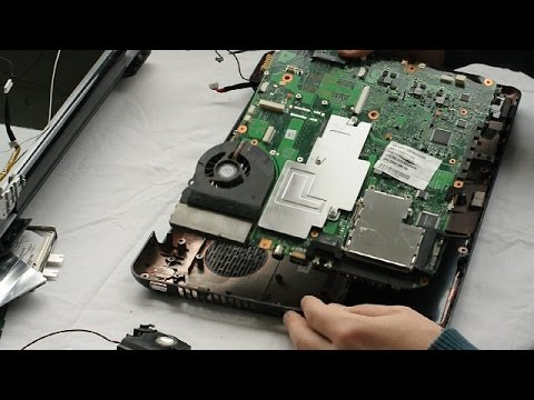 Toshiba Satellite A300 Laptop Disassembly video, take a part, how to open