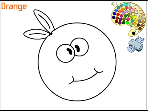 Orange Coloring Pages For Kids  Orange Coloring Pages  YouTube