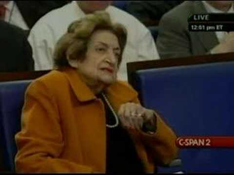 Helen Thomas Challenges Bush Admin on Use of Torture