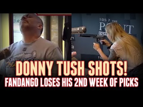 Lux delivers Donny's 2nd round of tush shots in the Pick 'Em Challenge! [Rizzuto Show]