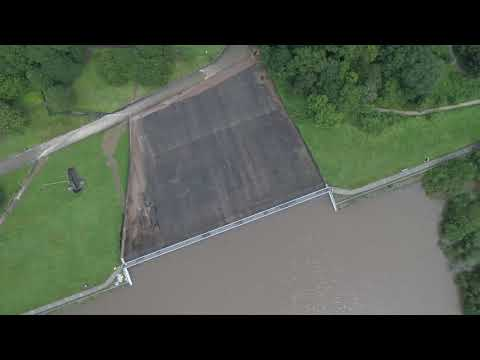 Whaley Bridge's Collapsing Dam 4K Drone Footage 1st August 2