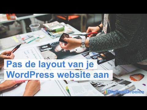 Pas de layout van je website aan