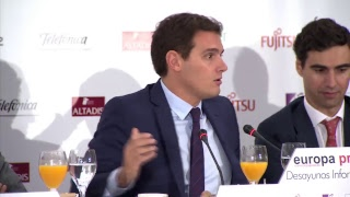 Desayuno informativo de Europa Press con Albert Rivera