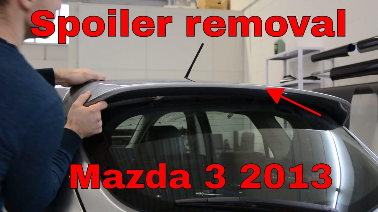 mazdaspeed 6 spoiler removal