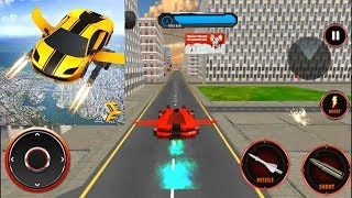 Flying Robot Car Robot Transformation Game Android Gameplay #1