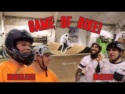 BRAKES vs BRAKELESS GAME OF BIKE!