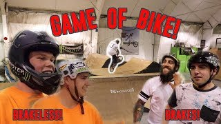 BRAKES vs BRAKELESS GAME OF BIKE!